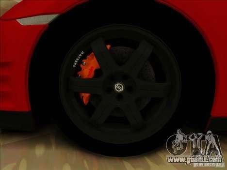 Nissan GTR Egoist 2011 for GTA San Andreas inner view