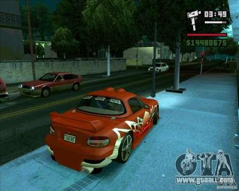 Mazda Miata Tunable for GTA San Andreas back left view