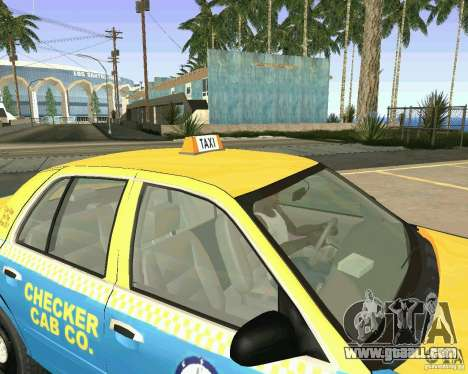 Ford Crown Victoria 2003 Taxi Cab for GTA San Andreas inner view