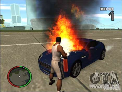 Auto extinguishing a fire extinguisher for GTA San Andreas third screenshot