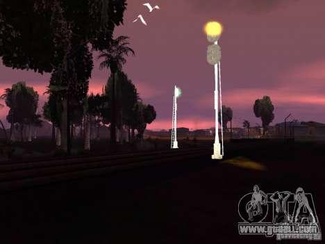 Railway traffic lights 2 for GTA San Andreas sixth screenshot