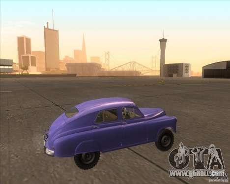 GAZ M72 for GTA San Andreas left view