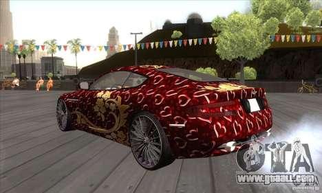 Aston Martin DB9 Female Edition for GTA San Andreas back left view