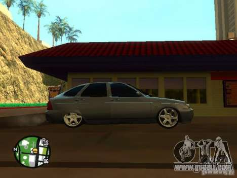 LADA Priora 2172 for GTA San Andreas back view