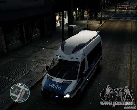 Mercedes Sprinter German Police for GTA 4 inner view