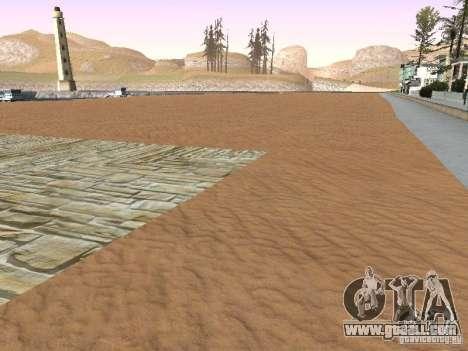New Beach texture v1.0 for GTA San Andreas fifth screenshot