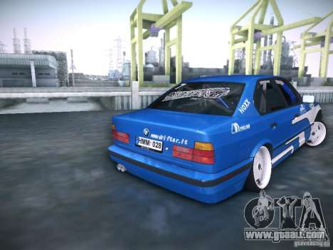 BMW E34 Drift for GTA San Andreas back left view