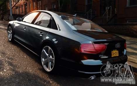 Audi A8 2010 V8 FSI for GTA 4 left view