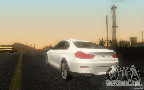 BMW 6 Series Gran Coupe 2013 for GTA San Andreas back left view