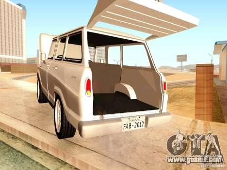 Chevrolet Veraneio de Luxo 1973 for GTA San Andreas inner view