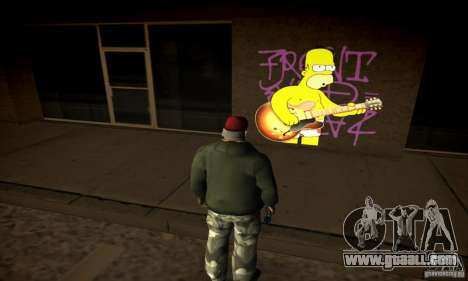 Simpson Graffiti Pack v2 for GTA San Andreas forth screenshot