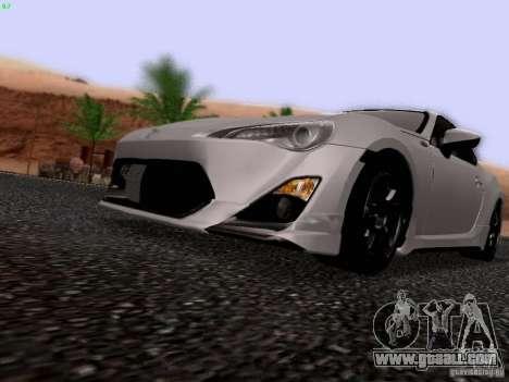 Toyota 86 TRDPerformanceLine 2012 for GTA San Andreas inner view