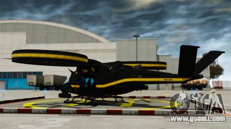 Transport helicopter SA-2 Samson for GTA 4 back left view