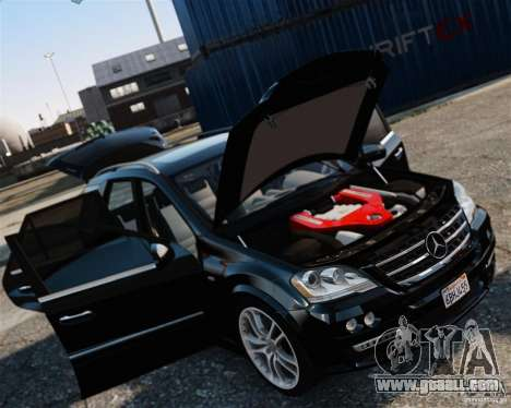 Mercedes-Benz ML Brabus 2009 for GTA 4 back left view