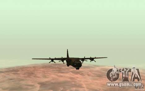 C-130 From Black Ops for GTA San Andreas back left view