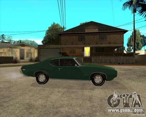 Pontiac GTO 1969 for GTA San Andreas right view