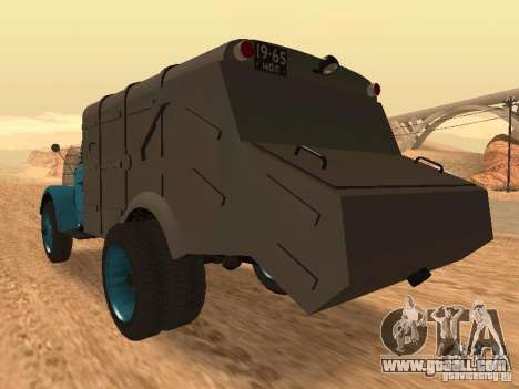 GAZ 51 garbage truck for GTA San Andreas back left view