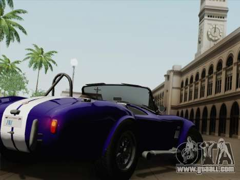 Shelby Cobra 427 for GTA San Andreas right view