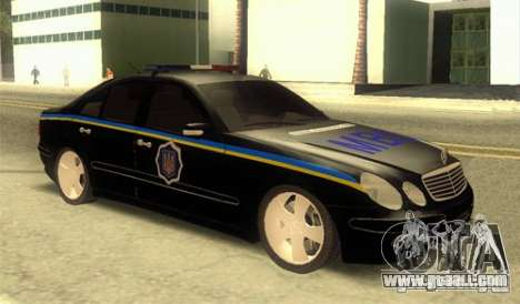 MERCEDES BENZ E500 w211 SE Police Ukraine for GTA San Andreas
