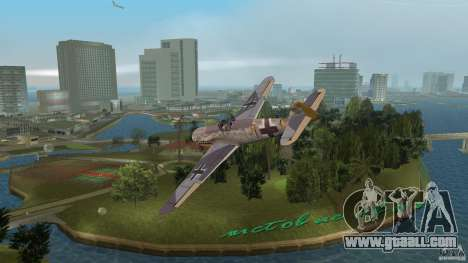 WW2 War Bomber for GTA Vice City left view