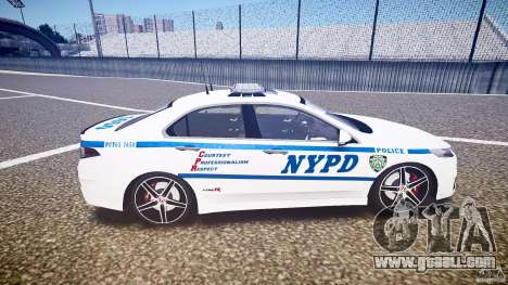 Honda Accord Type R NYPD (City Patrol 7605) ELS for GTA 4 inner view