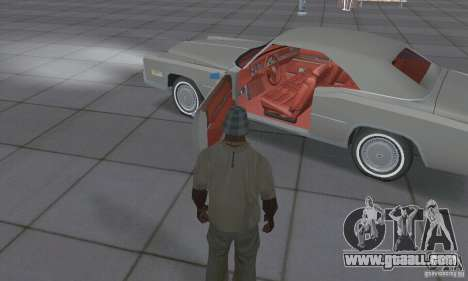 Cadillac Eldorado Convertible 1976 for GTA San Andreas inner view