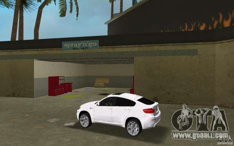 BMW X6M 2010 for GTA Vice City left view