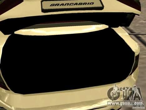 Maserati GranCabrio 2011 for GTA San Andreas side view