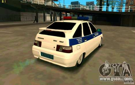 Vaz-2112 Police for GTA San Andreas back left view