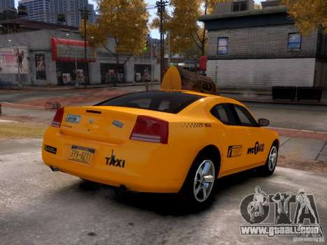 Dodge Charger NYC Taxi V.1.8 for GTA 4 back view