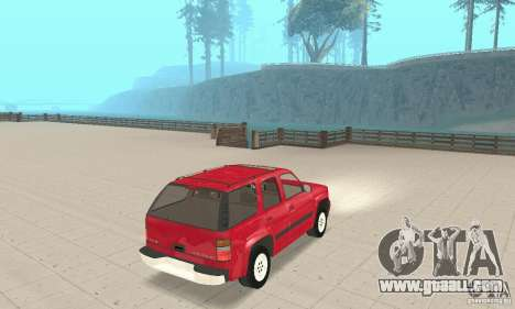 Chevrolet Tahoe 1992 for GTA San Andreas back left view