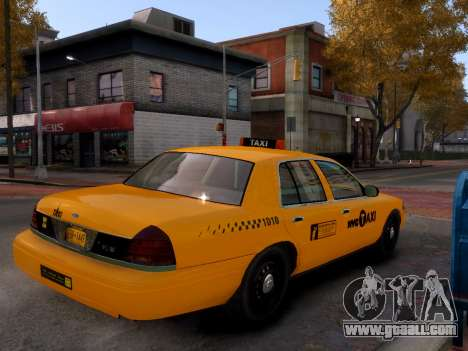 Ford Crown Victoria NYC Taxi 2013 for GTA 4 back left view