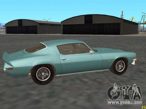 Chevrolet Camaro Z28 1971 for GTA San Andreas back left view