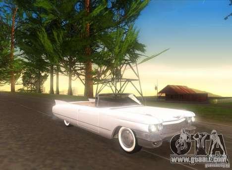 Cadillac Series 62 1960 for GTA San Andreas left view
