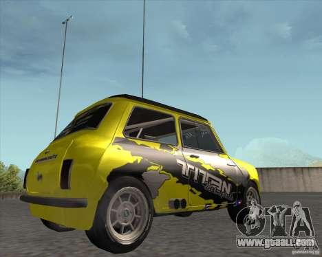 Mini Cooper S Titan Motorsports for GTA San Andreas right view