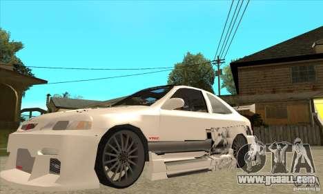 Honda Civic Tuning Tunable for GTA San Andreas engine