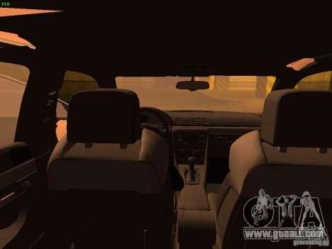 Audi S4 OEM for GTA San Andreas inner view