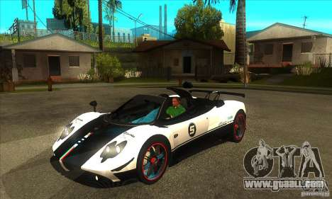 Pagani Zonda Cinque Roadster for GTA San Andreas