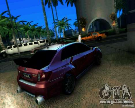 Subaru Impreza WRX STi 2011 for GTA San Andreas left view