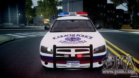 Dodge Charger Karachi City Police Dept Car [ELS] for GTA 4 side view