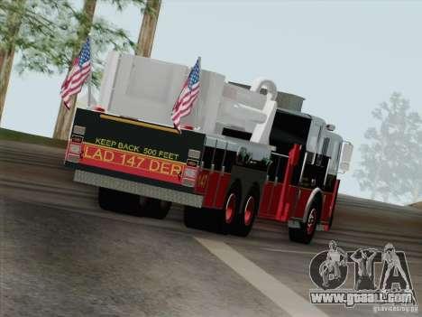 Seagrave Marauder II. SFFD Ladder 147 for GTA San Andreas bottom view