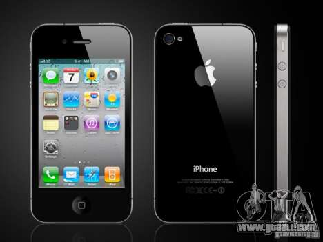 Iphone 4 g Black for GTA San Andreas