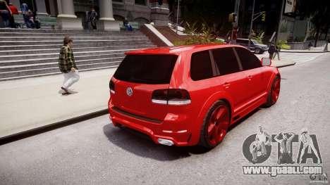 Volkswagen Touareg R50 2008 Tune (Beta) for GTA 4 back left view
