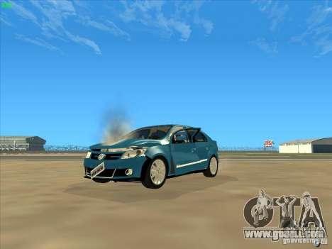 Volkswagen Voyage Comfortline 1.6 2009 for GTA San Andreas upper view