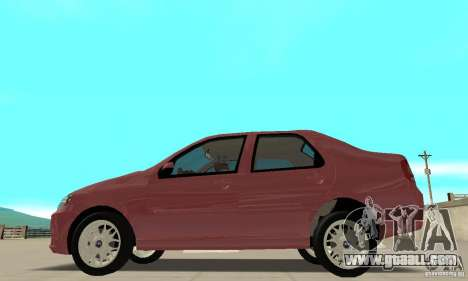 Fiat Siena HLX 1.8 Flex for GTA San Andreas back view