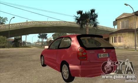 Toyota Corolla G6 Compact E110 EU for GTA San Andreas back left view