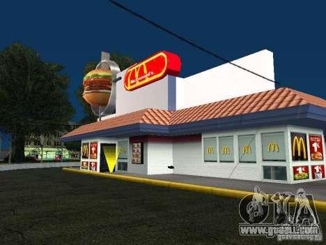 Mc Donalds for GTA San Andreas
