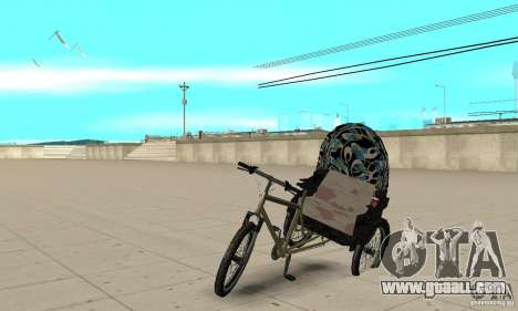 Manual Rickshaw v2 Skin3 for GTA San Andreas