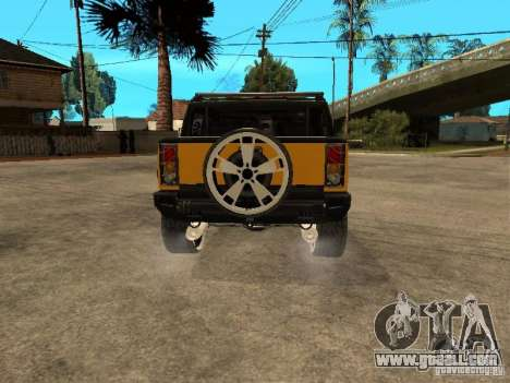 Hummer H2 4x4 diesel for GTA San Andreas right view