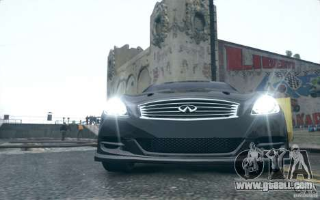 Infiniti G37 Coupe Carbon Edition v1.0 for GTA 4 left view